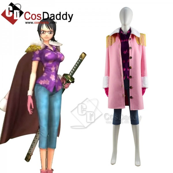One Piece Pirate Warriors 4 Tashigi Cosplay Costum...
