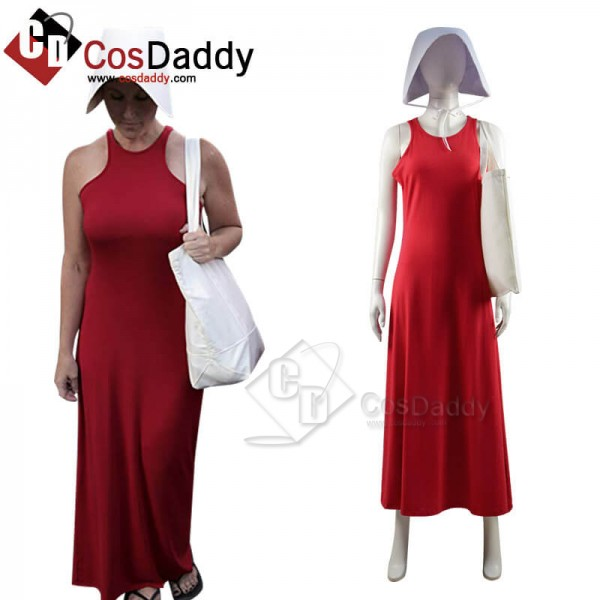 The Handmaid's Tale Cosplay Costume Halloween Red ...