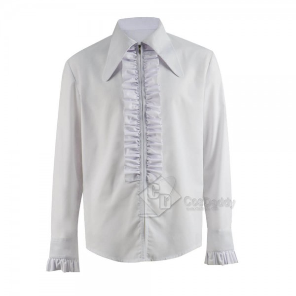 Doctor Who Third 3rd Doctor White Shirt Cosplay Costume