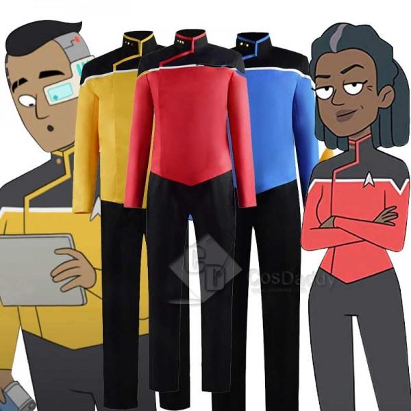 Star Trek Lower Decks Red Blue Yellow Uniform Unis...