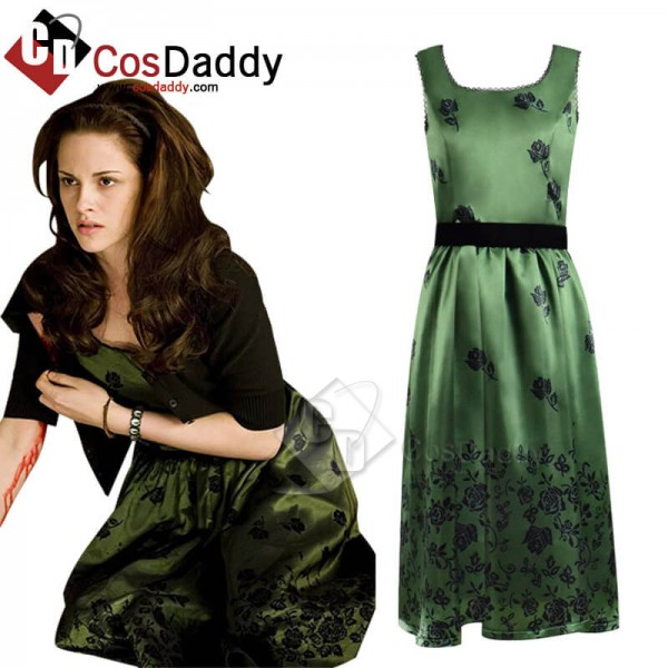 CosDaddy Twilight Bella Green Dress Cosplay Costume