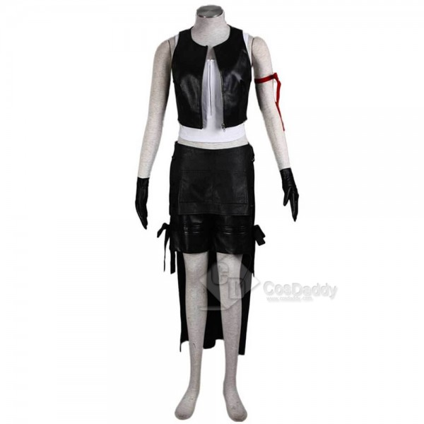 CosDaddy Final Fantasy VII Advent Children Tifa Lockhart Black Cosplay Costume