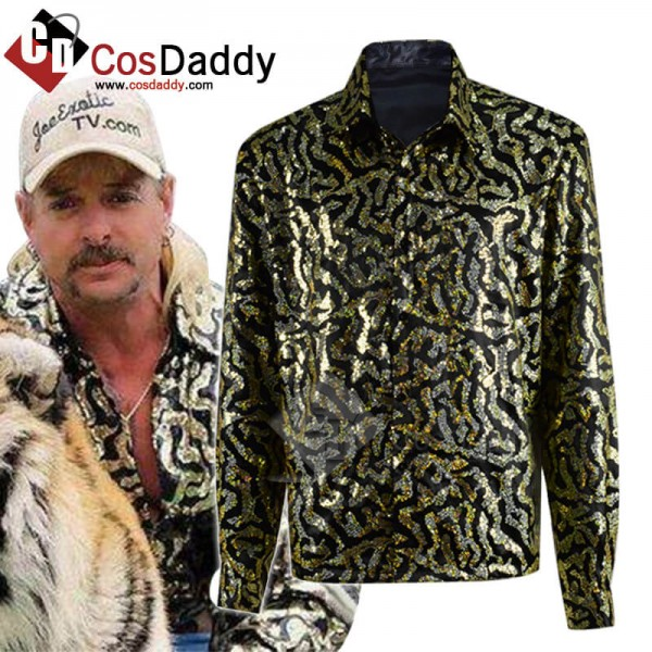 Tiger King Joe Exotic Adult Men Shirt Outfit Cosplay Costume