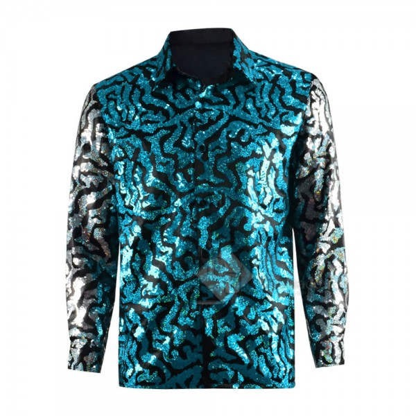 Tiger King Joe Exotic Sequin Shirt Cosplay Costume