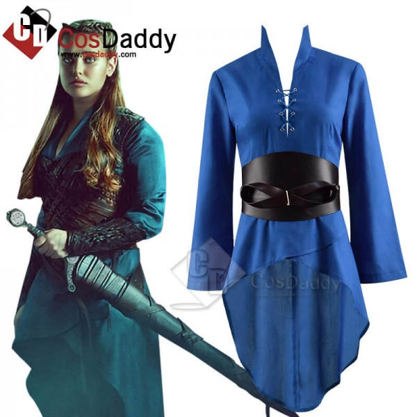 Cursed Lady Of The Lake Nimue Blue Dress Cosplay C...