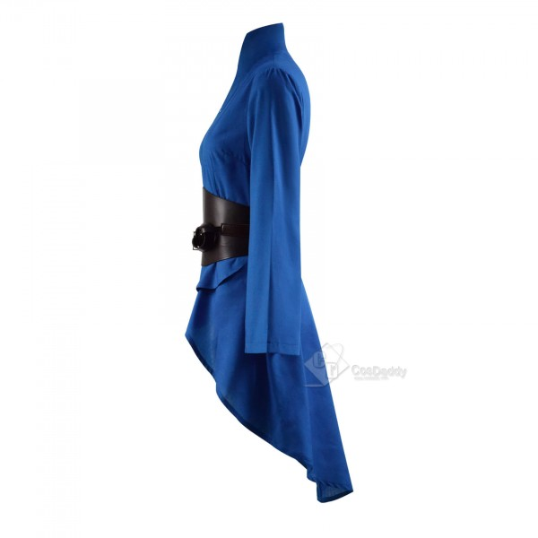 Cursed Lady Of The Lake Nimue Blue Dress Cosplay Costume