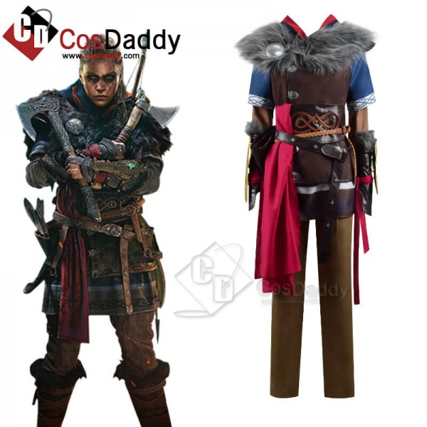CosDaddy Assassin's Creed Valhalla Female Eivor Varinsdottir Cosplay Costume Full Set Outfit