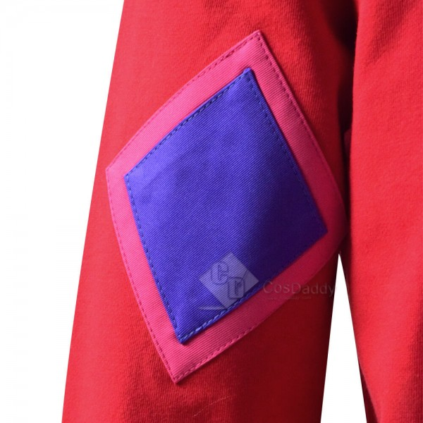 2020 Movie Connected Kids Adults Katie Mitchell Red Jacket Cosplay Costume