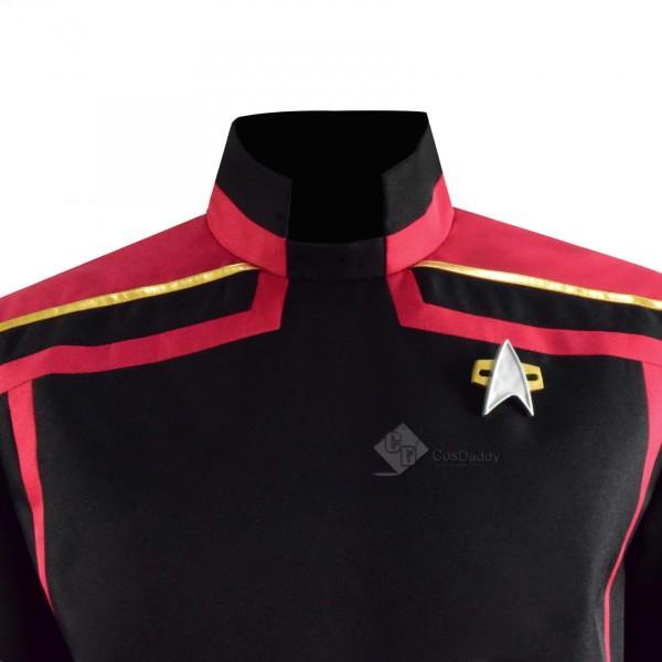 Star Trek The Next Generation Captain Picard Uniform Cosplay Costume Full Set