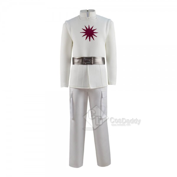 New Version Raised By Wolves Marcus Cosplay Costume White Trench Coat Full Set Outfit