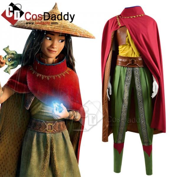 Raya and The Last Dragon Raya Cape Suit Full Set Cosplay Costume
