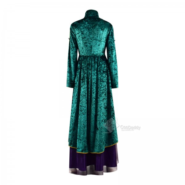 Best Hocus Pocus Deluxe Winifred Sanderson Dress Outfit Cosplay Costume