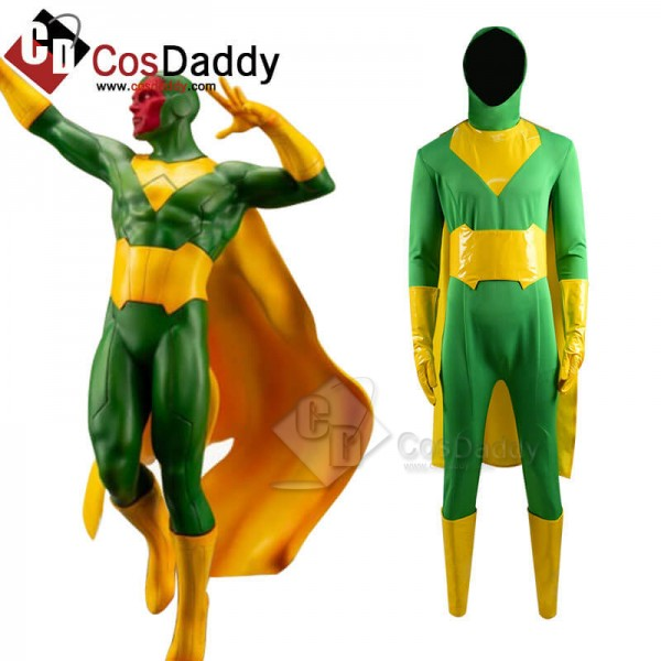 CosDaddy WandaVision Vision Green Jumpsuit Bodysui...