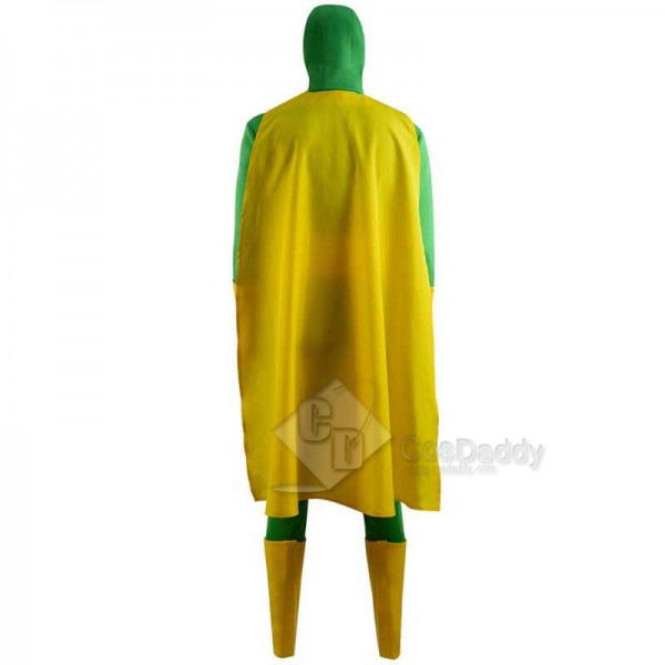 CosDaddy WandaVision Vision Green Jumpsuit Bodysuit Cape Cosplay Costume For Sale