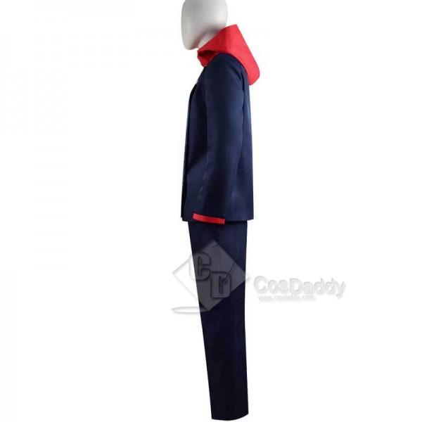 Jujutsu Kaisen Sorcery Fight Yuji Itadori Anime Ver.Dark Blue Cosplay Costume