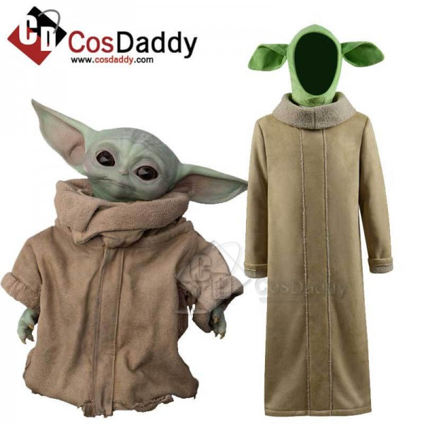 Star Wars The Mandalorian Baby Yoda Coat Outfit Co...
