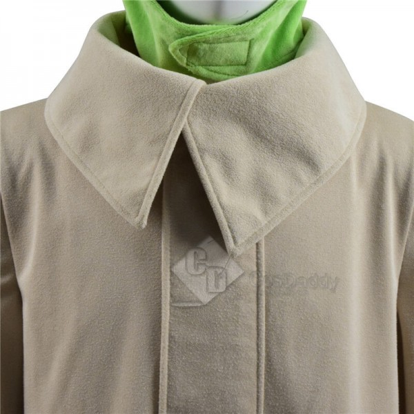 New Version Star Wars The Mandalorian Baby Yoda Coat Outfit Cosplay Costume