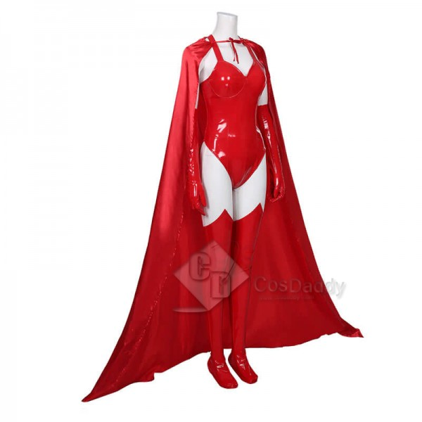 WandaVision Wanda Maximoff Scarlet Witch Cosplay Costume Halloween Carnival Outfit