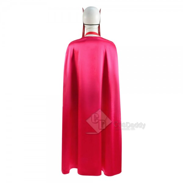 WandaVision Wanda Maximoff Scarlet Witch Red Jumpsuit Bodysuit Cape Full Set Cosplay Costume