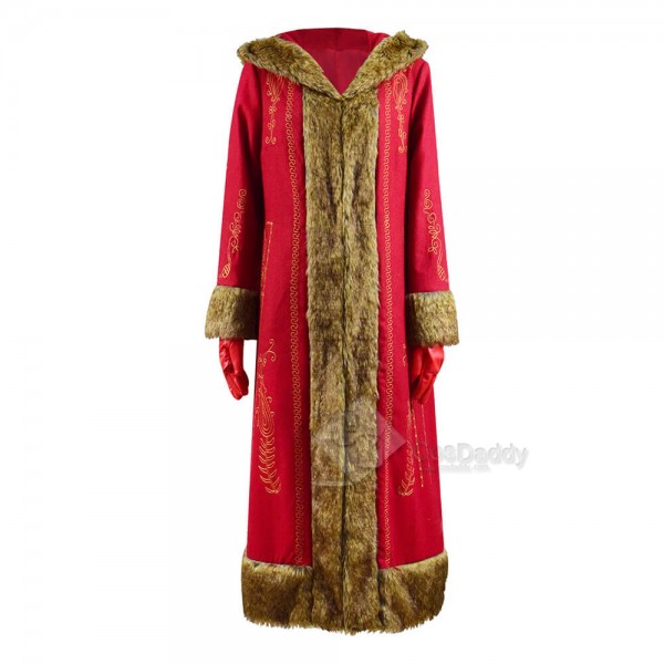 The Christmas Chronicles 2 Mrs. Claus Red Long Coat Cosplay Costume