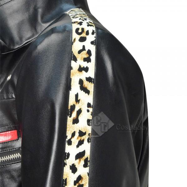 Best Final Fantasy VII Remake FF7 Leslie Kyle Leather Jacket Coat Cosplay Costume For Sale