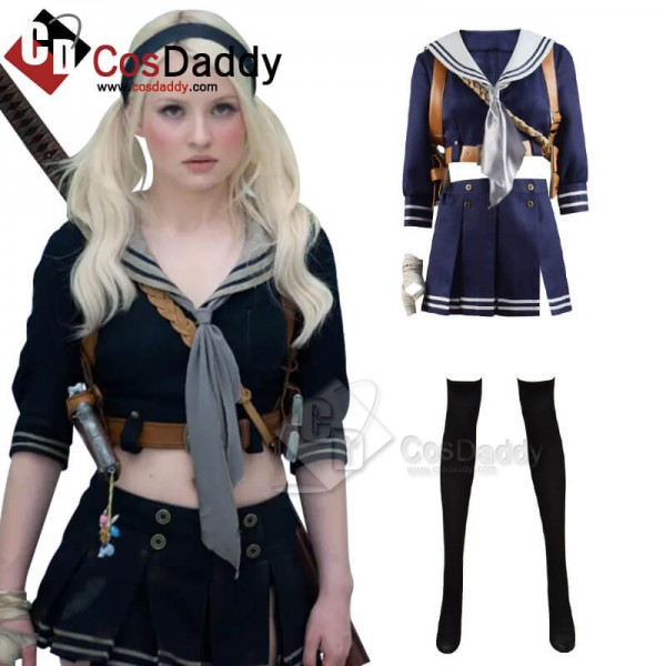 CosDaddy Sucker Punch Babydoll Uniform Full Set Outfit Cosplay Costume