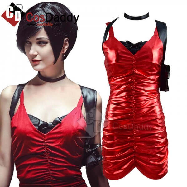Best Resident Evil 2 Remake Ada Wong Red Dress Cos...