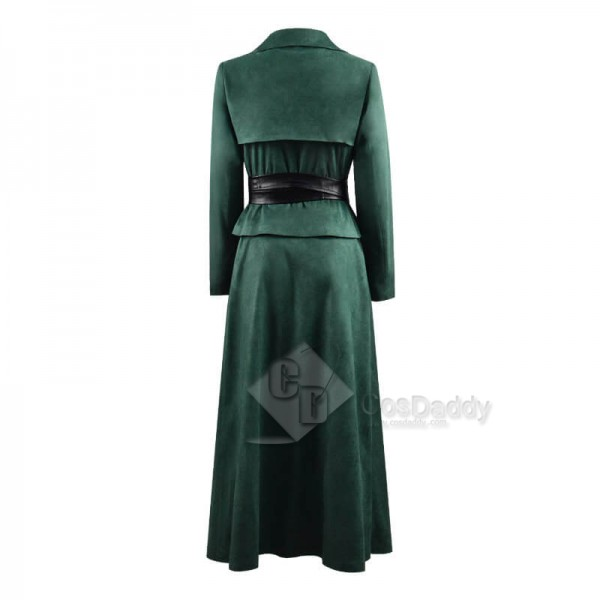 2020 TV The Watch Lady Sybil Ramkin Green Suit Outfit Cosplay Costume