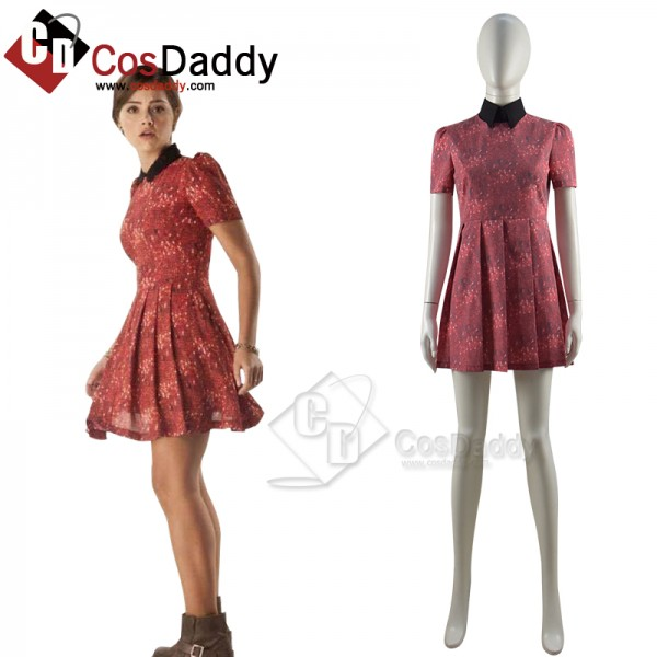 Doctor Who Claras Cute Red Dress Cosplay Costume C...
