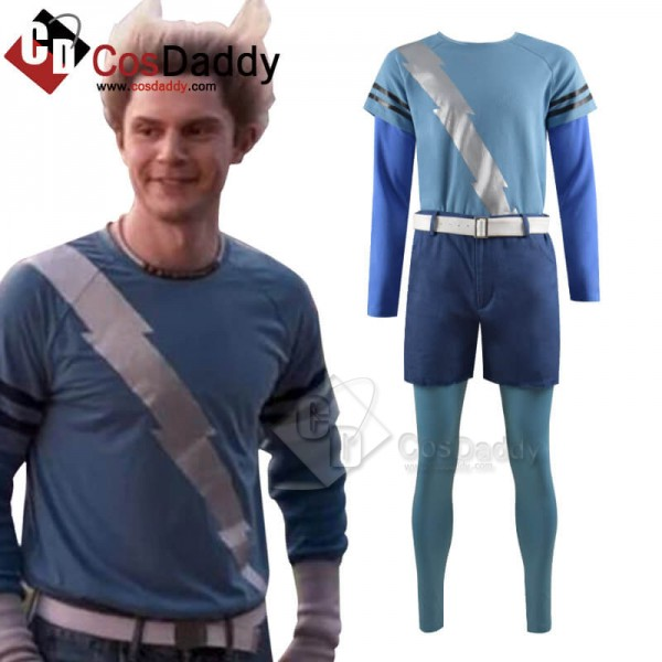 WandaVision Quicksilver Blue Flash Shirt Cosplay C...