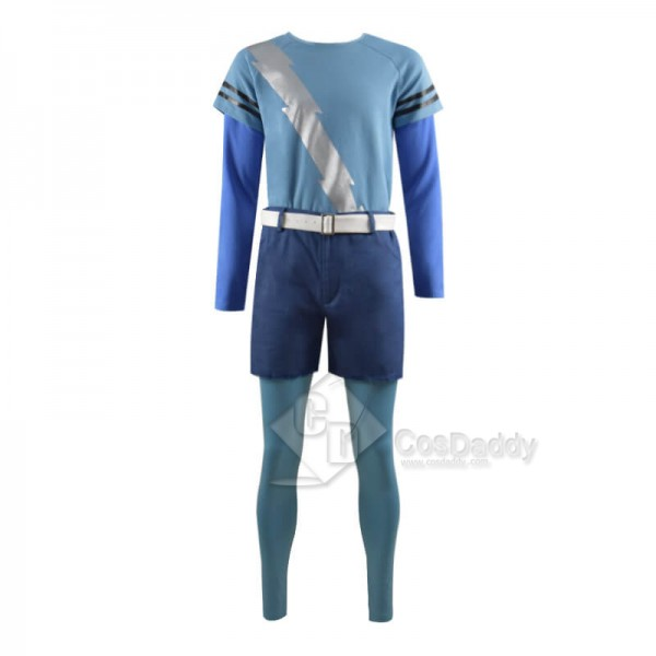 WandaVision Quicksilver Blue Flash Shirt Cosplay Costume Full Set Outfit
