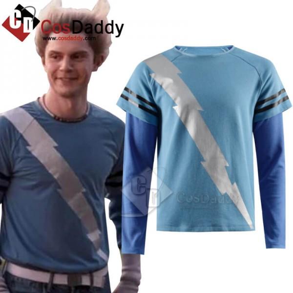 CosDaddy WandaVision Quicksilver Blue Flash Shirt ...