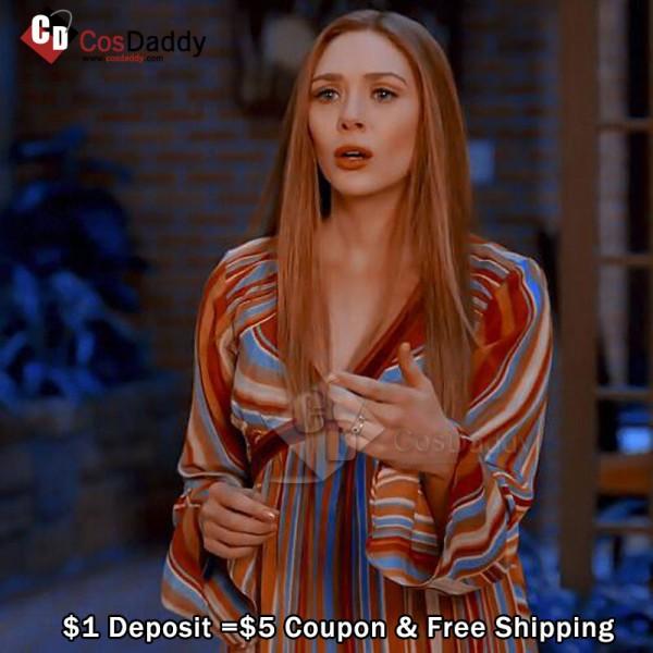 Deposit WandaVision Costume Wanda Striped Dress