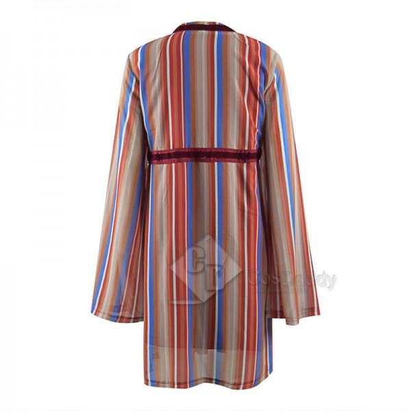 WandaVision Costume Scarlet Witch Cosplay Wanda Maximoff Striped Dress
