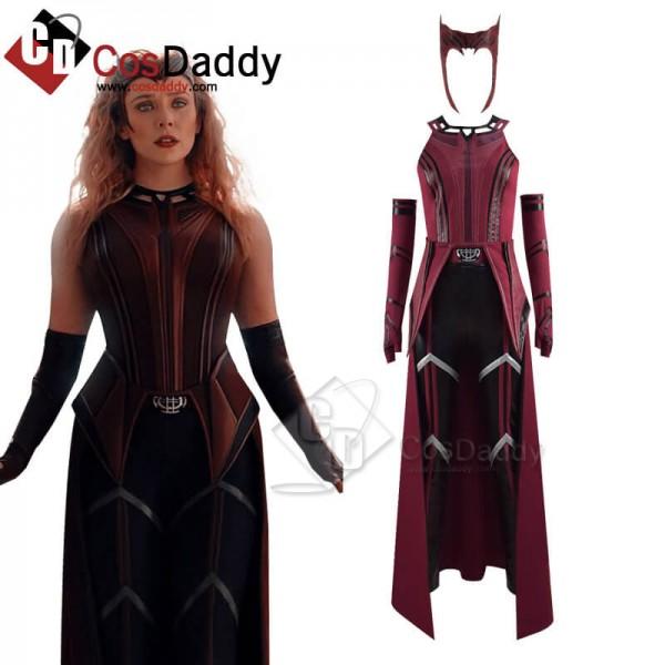 WandaVision Scarlet Witch Cosplay Suit Wanda Maxim...
