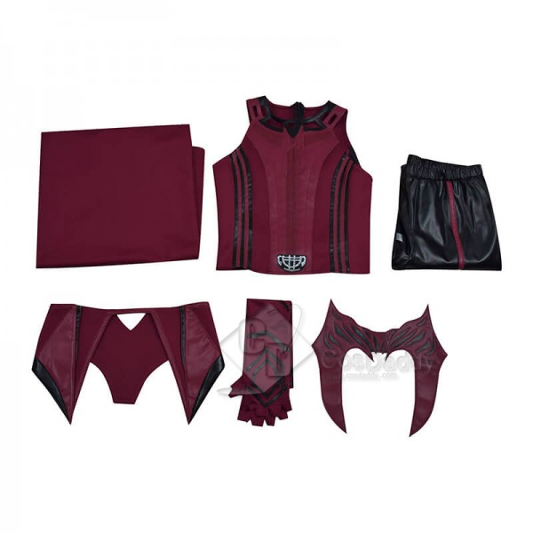 WandaVision Scarlet Witch Cosplay Suit Wanda Maximoff Cosplay Costume (Simply Version)