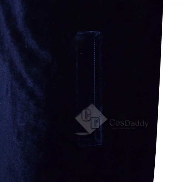 CosDaddy Doctor Who Twelfth 12th Doctor Navy Blue Velvet Coat Cosplay Costume