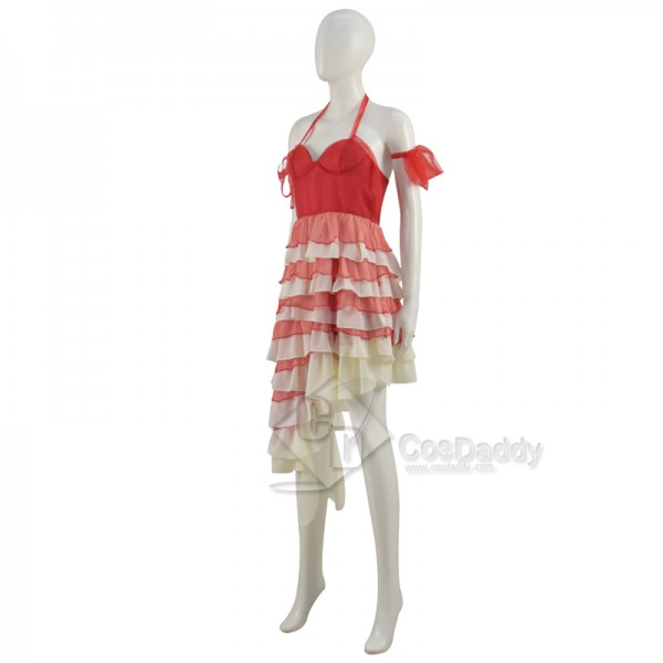 CosDaddy Harley Quinn Red Dress Plus Size The Suicide Squad 2 Cosplay Costumes (New Version)