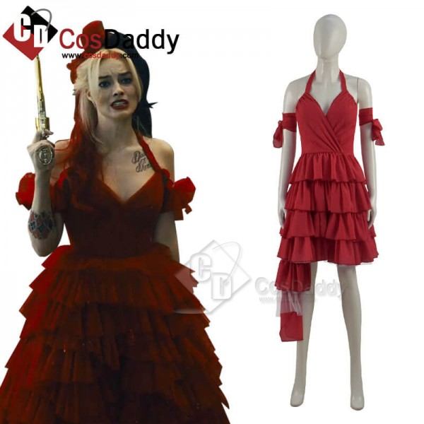 CosDaddy Suicide Squad Harley Quinn 2021 Movie Red...