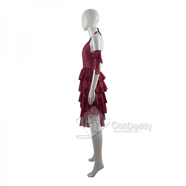 CosDaddy Suicide Squad Harley Quinn 2021 Movie Red Dress Cosplay Costume