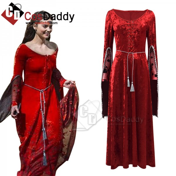 Doctor Who Clara Oswald Robots of Sherwood Dress Medieval Dress Cosplay Costume