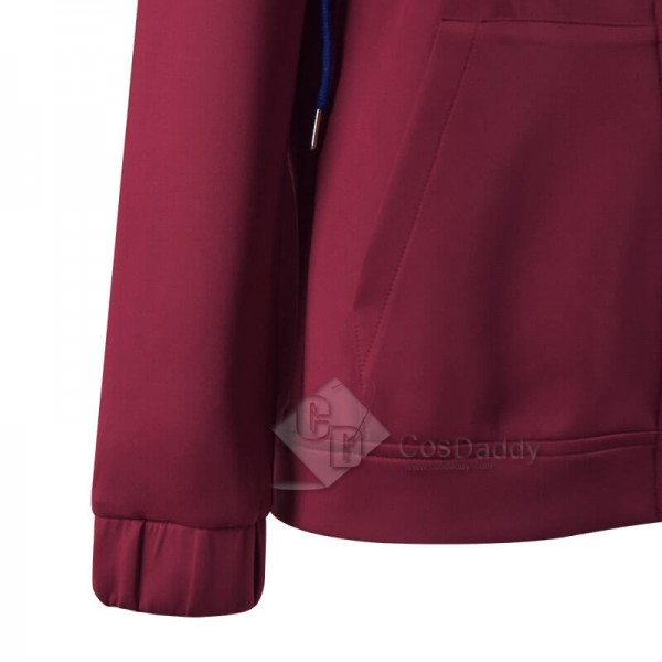 WandaVision Wanda Maximoff Hoodie Jacket Scarlet Witch Cosplay Costume(New Version)