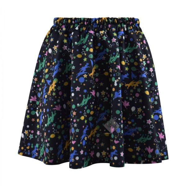 Harry Potter Luna Lovegood Skirt Women Girls Print Skirt Cosplay Costume