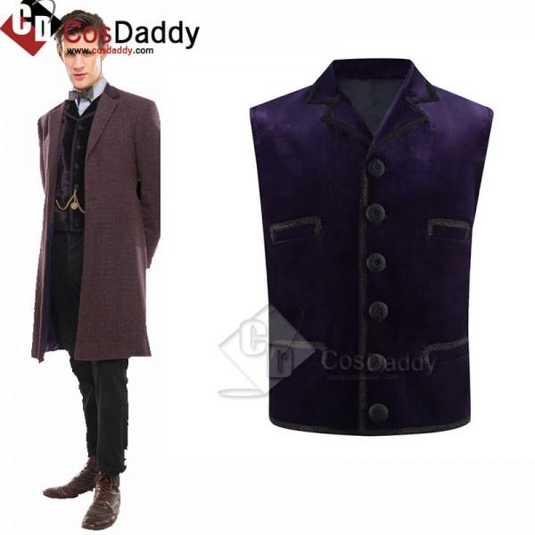 11th Doctor Purple Velvet Waistcoat Matt Smith Ele...