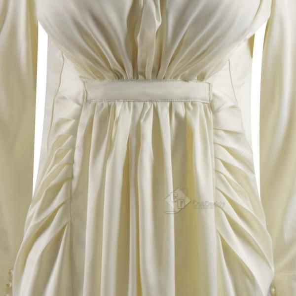 Resident Evil 8 Vampire Lady Alcina Dimitrescu Cosplay Costume Halloween Suit beige Dress