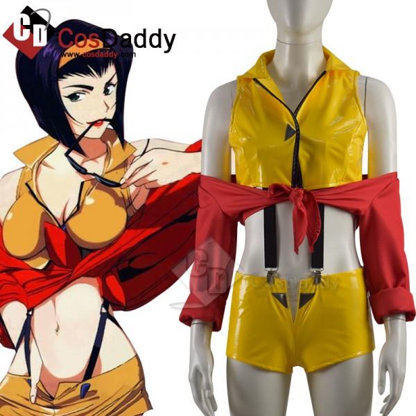 Anime Cowboy Bebop Faye Valentine Cosplay Halloween Party Uniform
