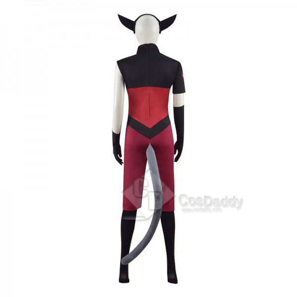 She-Ra And The Princesses of Power Catra Cosplay Costume Halloween Party Suit With Ears