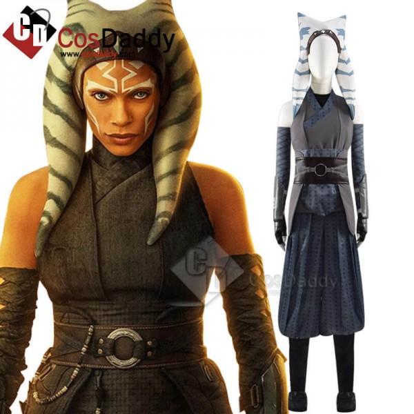 Star Wars The Mandalorian Ahsoka Tano Cosplay Cost...