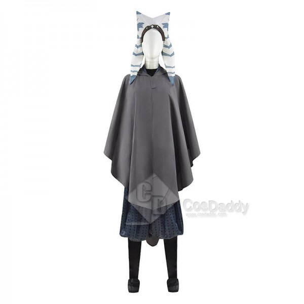 Star Wars The Mandalorian Ahsoka Tano Cosplay Costumes Kids Halloween Costumes CosDaddy