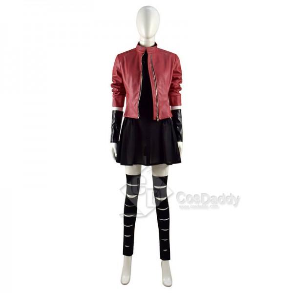 Avengers 2 Age of Ultron Scarlet Witch Jacket Wanda Maximoff Cosplay Costume